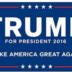 Trump For President 2016 Make America Great Again (Smaller size)