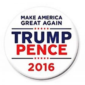 White Make America Great Again Trump Pence 2016 Campaign Button