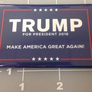 Trump for President 2016 Make America Great Again campaign button