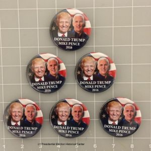 6 Pack Complete Set Donald Trump Mike Pence 2016 face photo campaign button