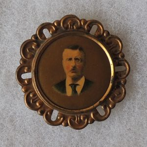 1 -3/4 inch Theodore Roosevelt Campaign Button Pin back