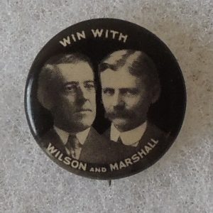 Win with Wilson and Marshall campaign button.