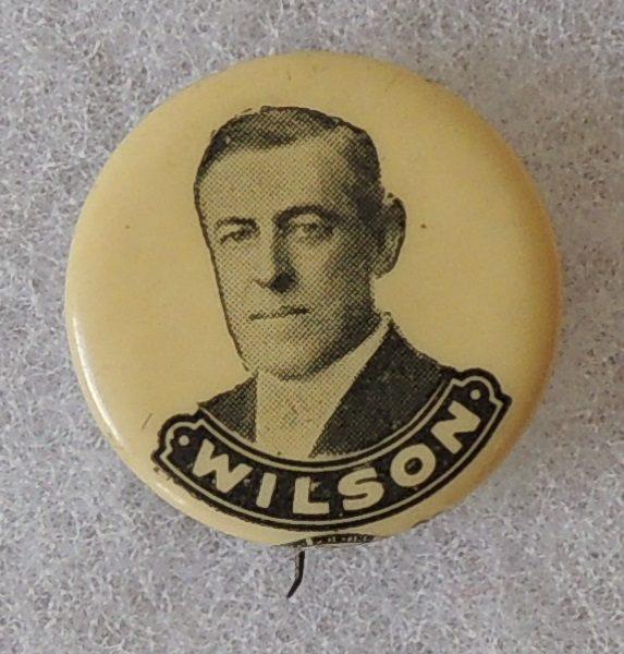 7/8 inch Woordow Wilson Campaign Button