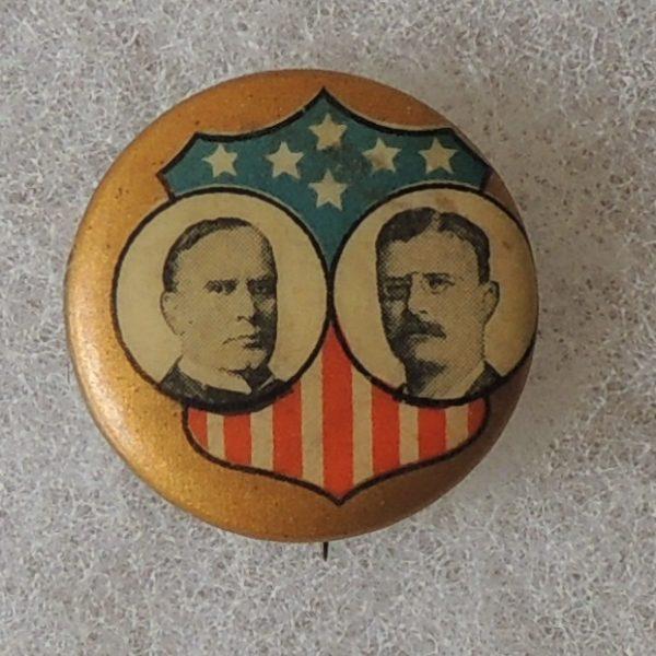 McKinley Roosevelt Button