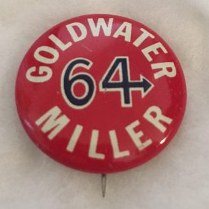Goldwater 64 Miller Campaign Button