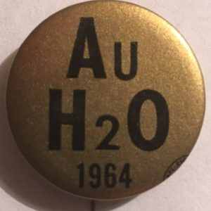 Au H2O 1964 Gold Button