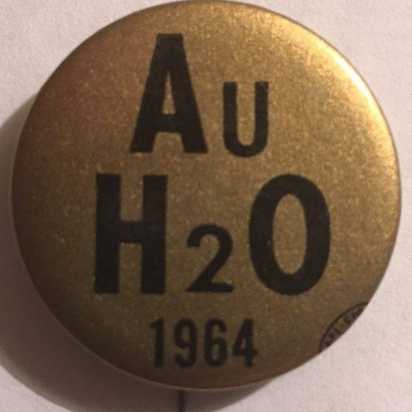 Au H2O 1964 Gold Button