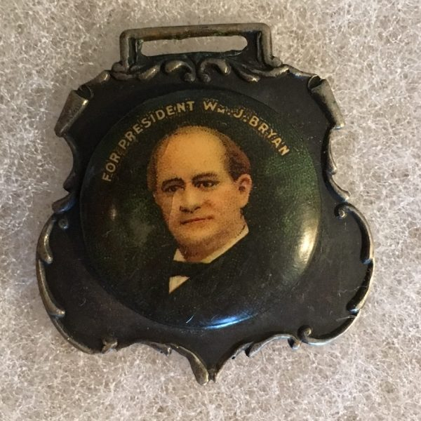 For President William J. Bryan Button Badge