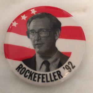 Rockefeller 92 Campaign Button