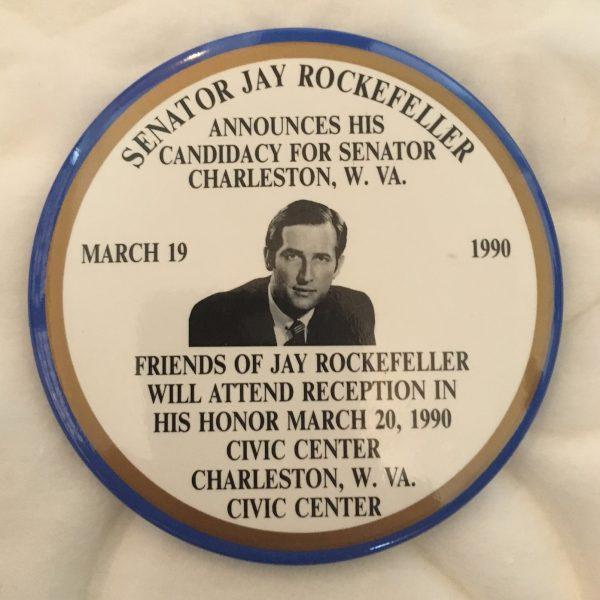 Senator Jay Rockefeller Announces His Candidacy for Senator Button