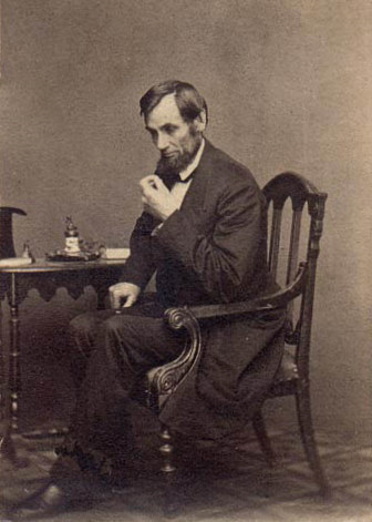 Abraham Lincoln 8 x 10 print of his famous thinking pose