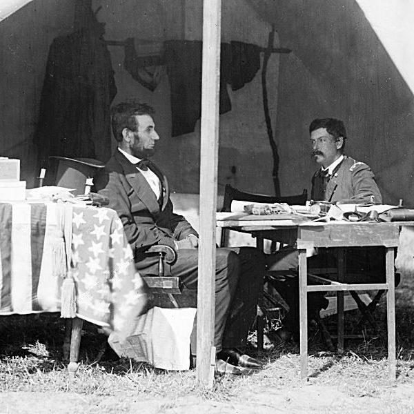 Abraham Lincoln and General George B. McClellan 8 x 10 print