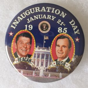 Inauguration Day January 21st 1985 Reagan And Bush Button