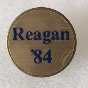"""3/4 """" Reagan 84 lapel pin"""