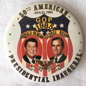 50th America GOP 1985 Campaign Button