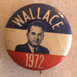 Wallace 1972 campaign button