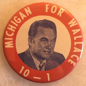 "3"" Michigan for Wallace mirror button"