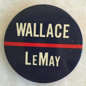 "3"" blue Wallace LeMay campaign button"