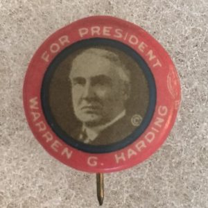 harding campaign button