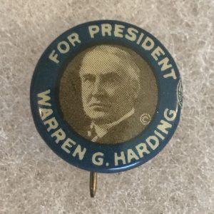 harding button blue