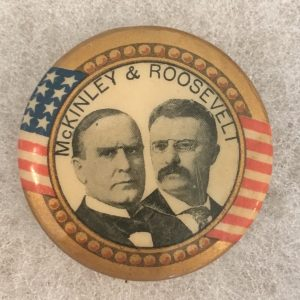 McKinley and Roosevelt celluloid campaign button