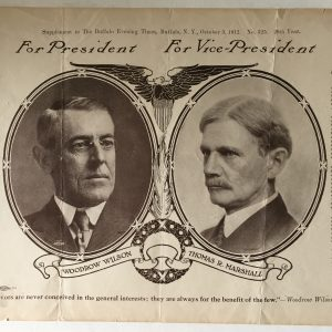Woodrow Wilson and Thomas R. Marshall poster
