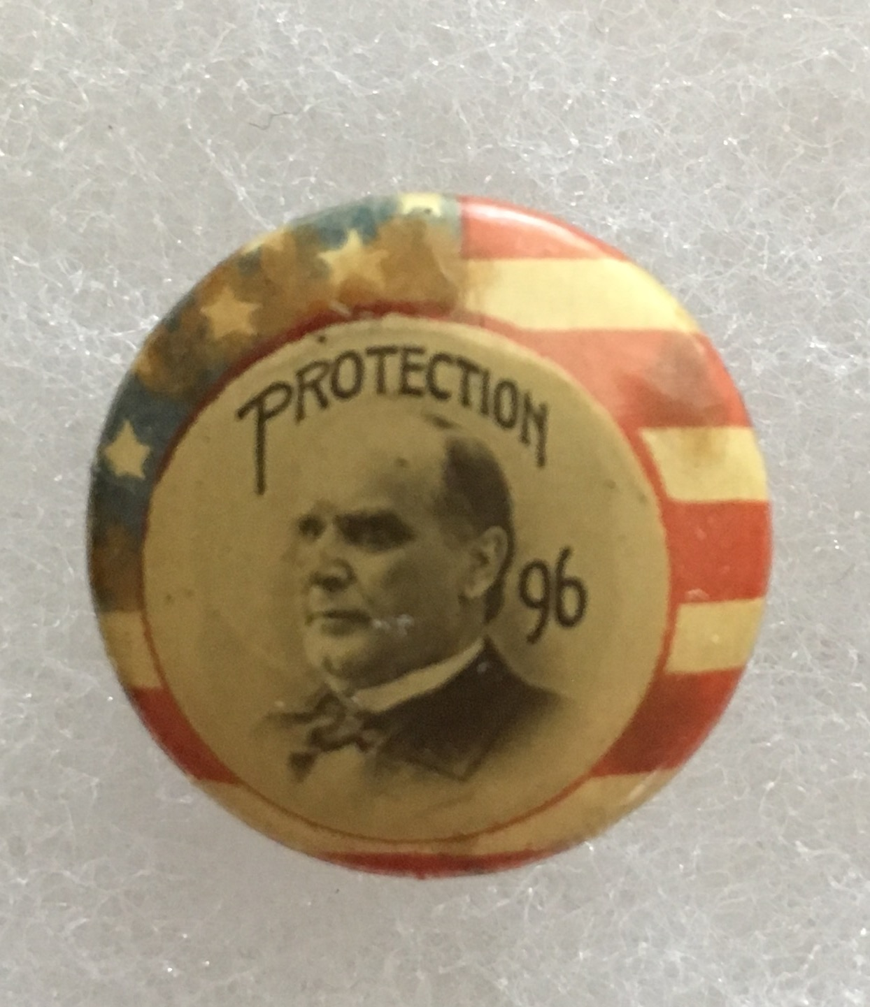 f6619d359be 1896 William McKinley Protection 96 Campaign Button Stud Back ...