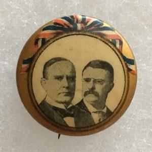 McKinlet Roosevelt Button