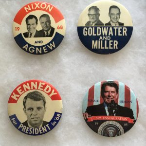Nixon, Goldwater, Kennedy and Reagan 4 Button set