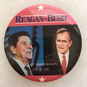 "Reagan Bush 51st Inauguration Jan. 21, 1985 campaign button. Measures 3 - 3/4"" and is in great condition as shown. Guaranteed 100% authentic. (Only 1 available)"