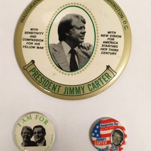 President Jimmy Carter Set of 3 Campaign Buttons (CARTER-401)