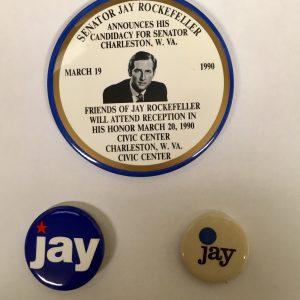 Jay Rockefeller Set of 3 campaign buttons (ROCKEFELLER-401)