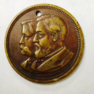Beautiful 1884 Blaine Logan The Republicans have ruled since 1860 Campaign Token
