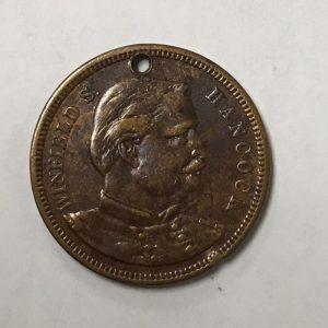 1880 WINFIELD S. HANCOCK A Super Soldier President Campaign Brass Medalet