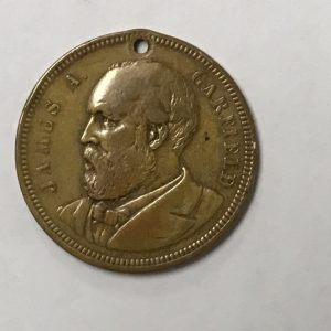 1881 James A Garfield Token Coin
