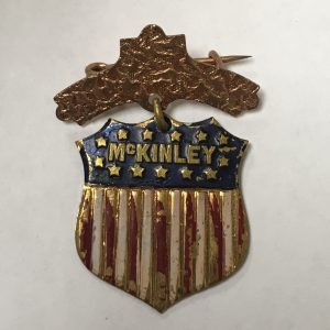 Very nice and rare 1896 William McKINLEY Campaign Shield Badge
