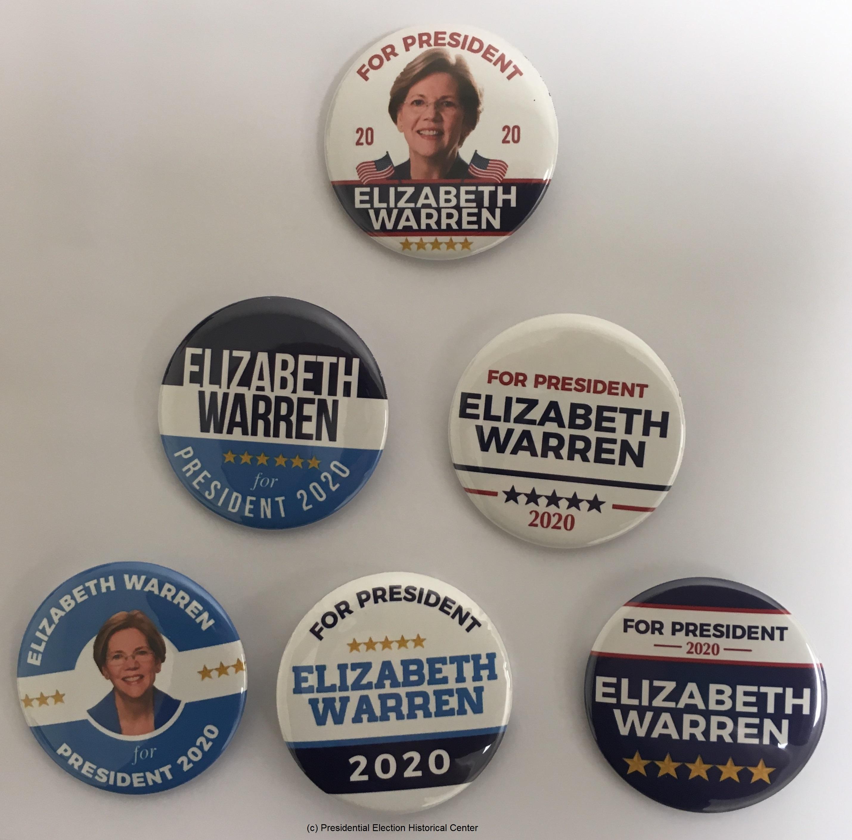 2020 Elizabeth Warren For President Button