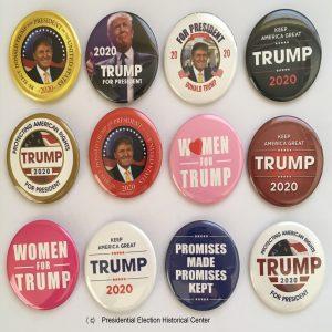 Donald Trump 2020 Campaign Buttons