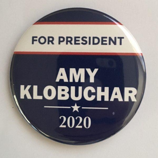 amy klobuchar 2020 presidential hopeful campaign button