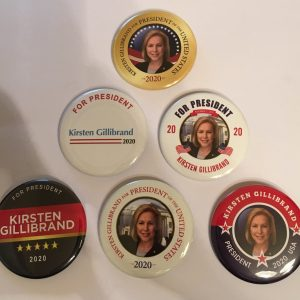 Kristen Gillibrand for President 2020 campaign Buttons