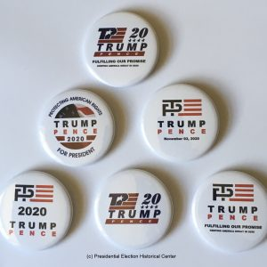 Donald Trump and Mike Pence Re-Election 2020 Campaign Buttons
