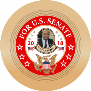 5adc9c97336 Tony Campbell for U.S. Senate – Maryland 2018 Campaign Buttons  (SENATE-CAMPBELL-701)