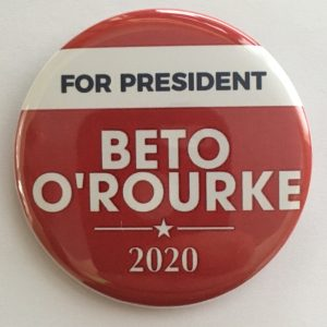 Beto O'Rourke campaign buttons