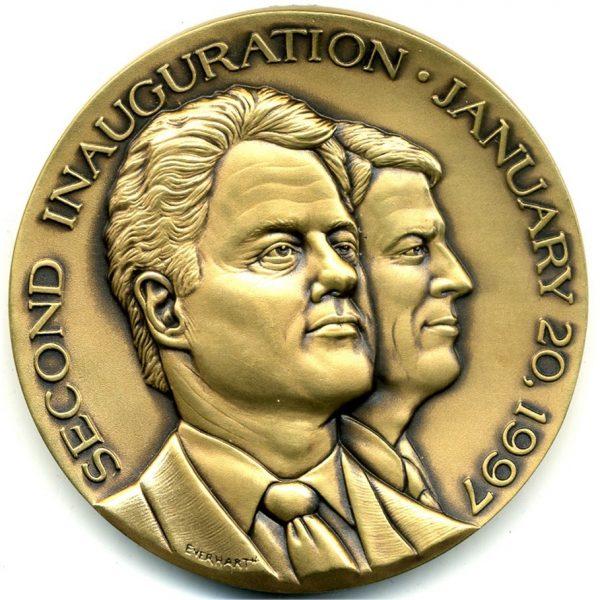 Bill Clinton Inaugural Medal – Rare Mule, 1997