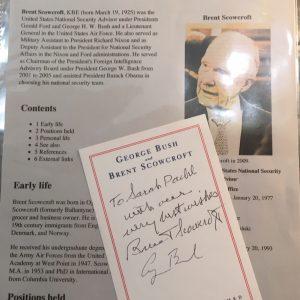 Brent Scowcroft George Bush Signature