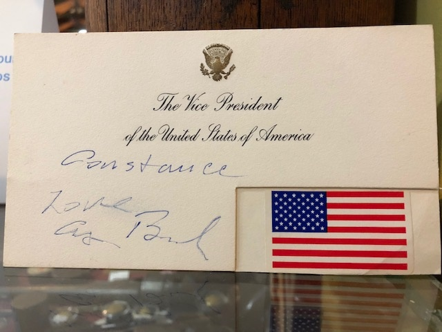 George H W Bush Signature Vice President Of The United States 703