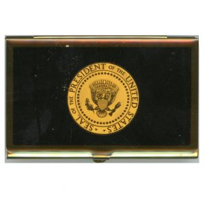 Ronald Reagan Trip Gift – Combination Business Card Case and Calculator, 1987