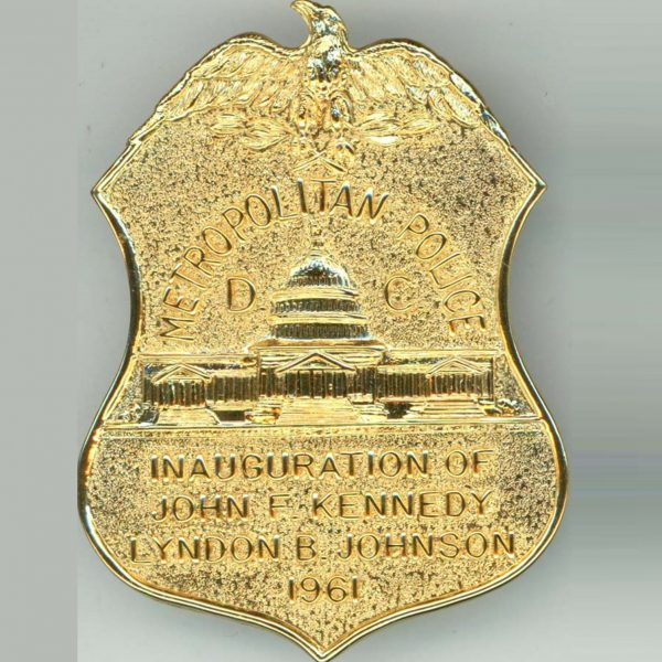 Official Inaugural Police Badge, 1961