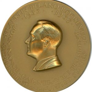 Uncirculated (FDR) Franklin D. Roosevelt Official Inaugural Medal, 1933 (Rare)