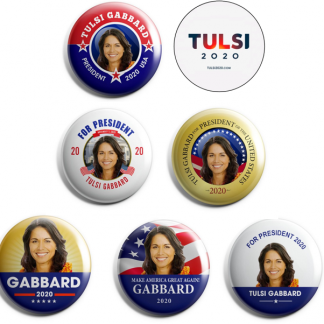 Tulsi Gabbard - set of 7 pins